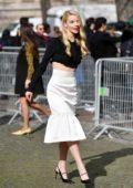 Anya Taylor-Joy attends the Miu Miu fashion show, F/W 2020 during Paris Fashion Week in Paris, France