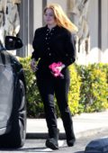 Ariel Winter wears all-black while dropping off her dog at the Vet's office in Sherman Oaks, California