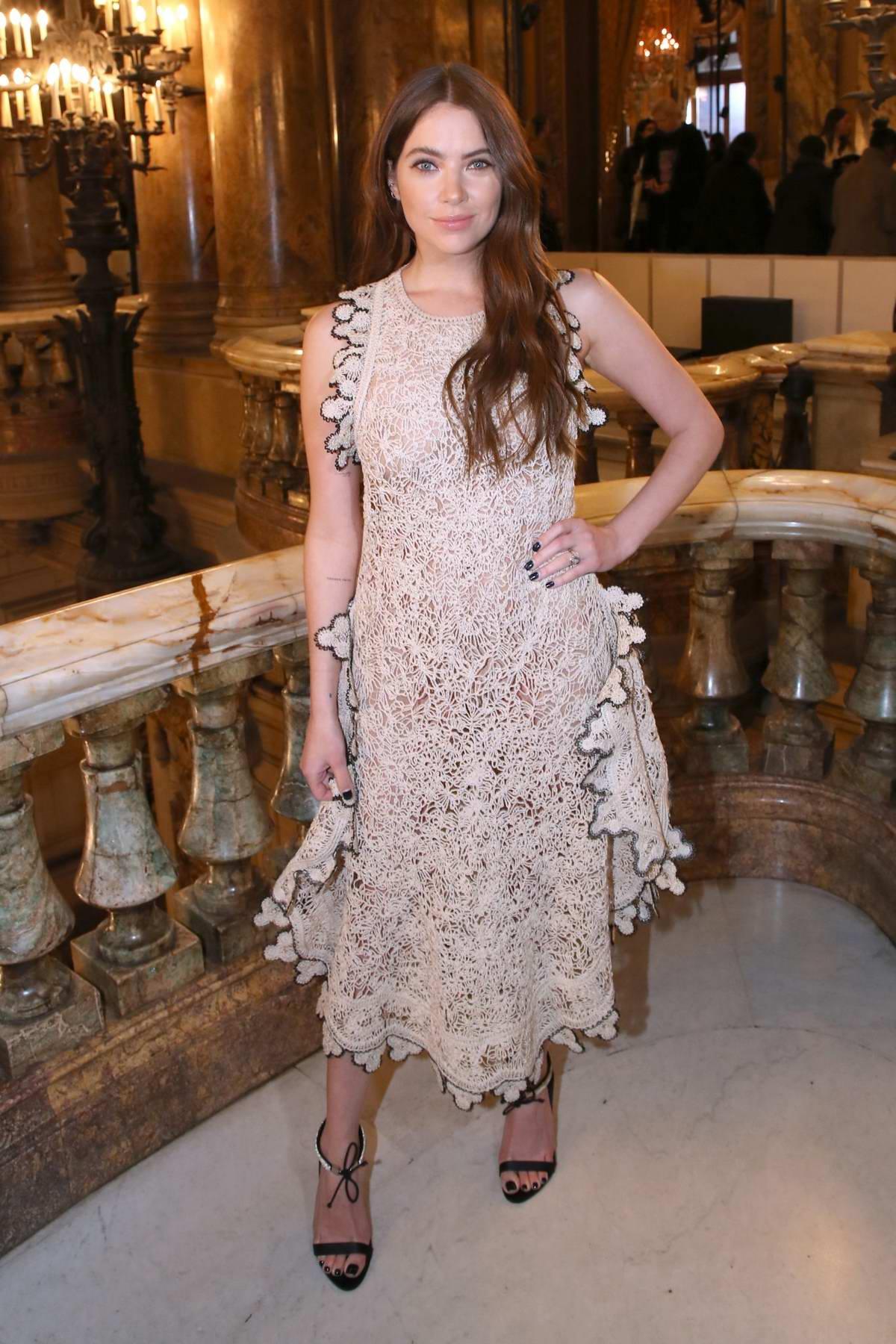 Ashley Benson attends the Stella McCartney show, F/W 2020 during Paris Fashion Week in Paris, France