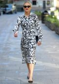 Ashley Roberts looks great in Dalmatian print dress as she leaves Heart Radio in London, UK