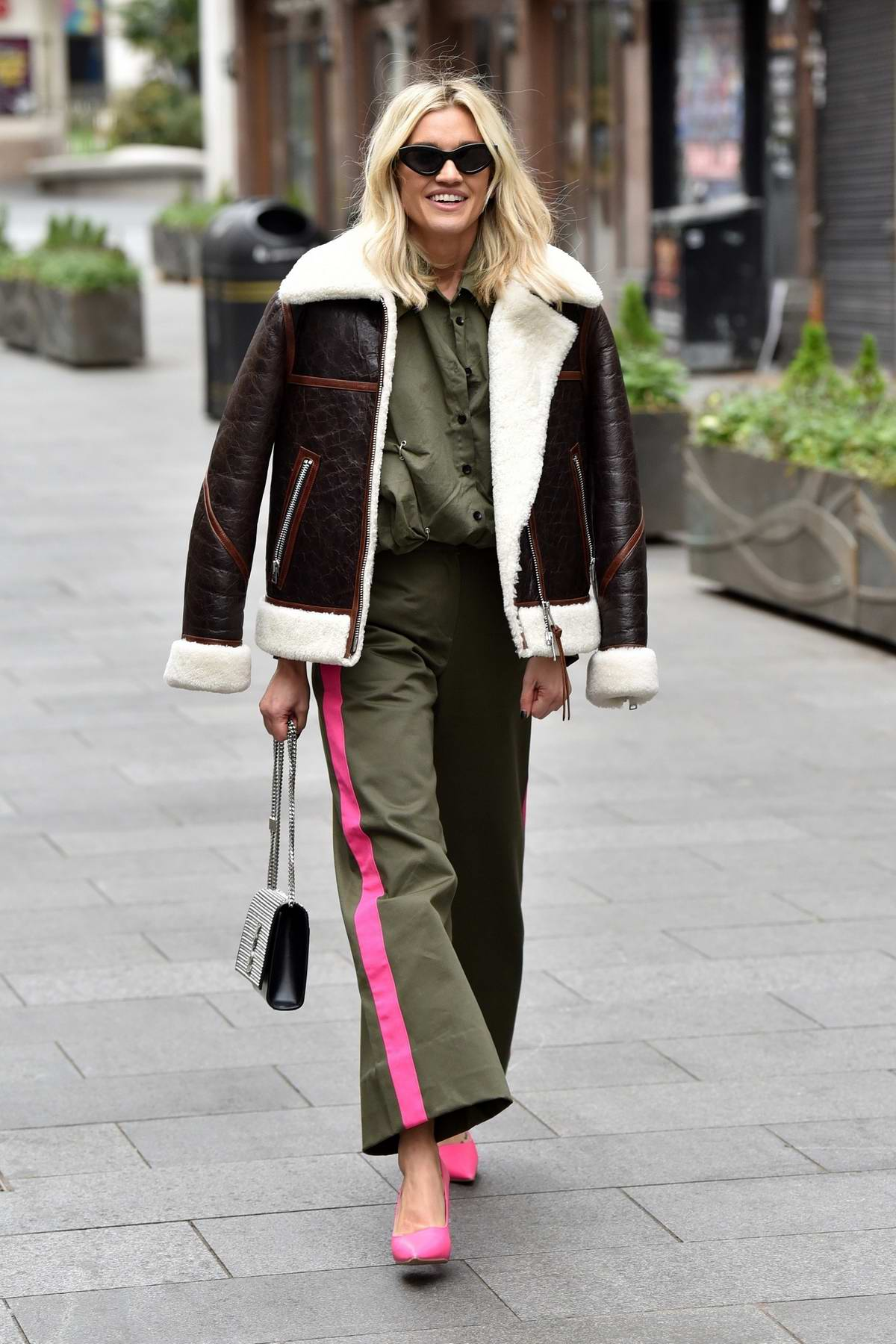 Ashley Roberts seen leaving the Global studios after the Heart radio Breakfast show in London, UK