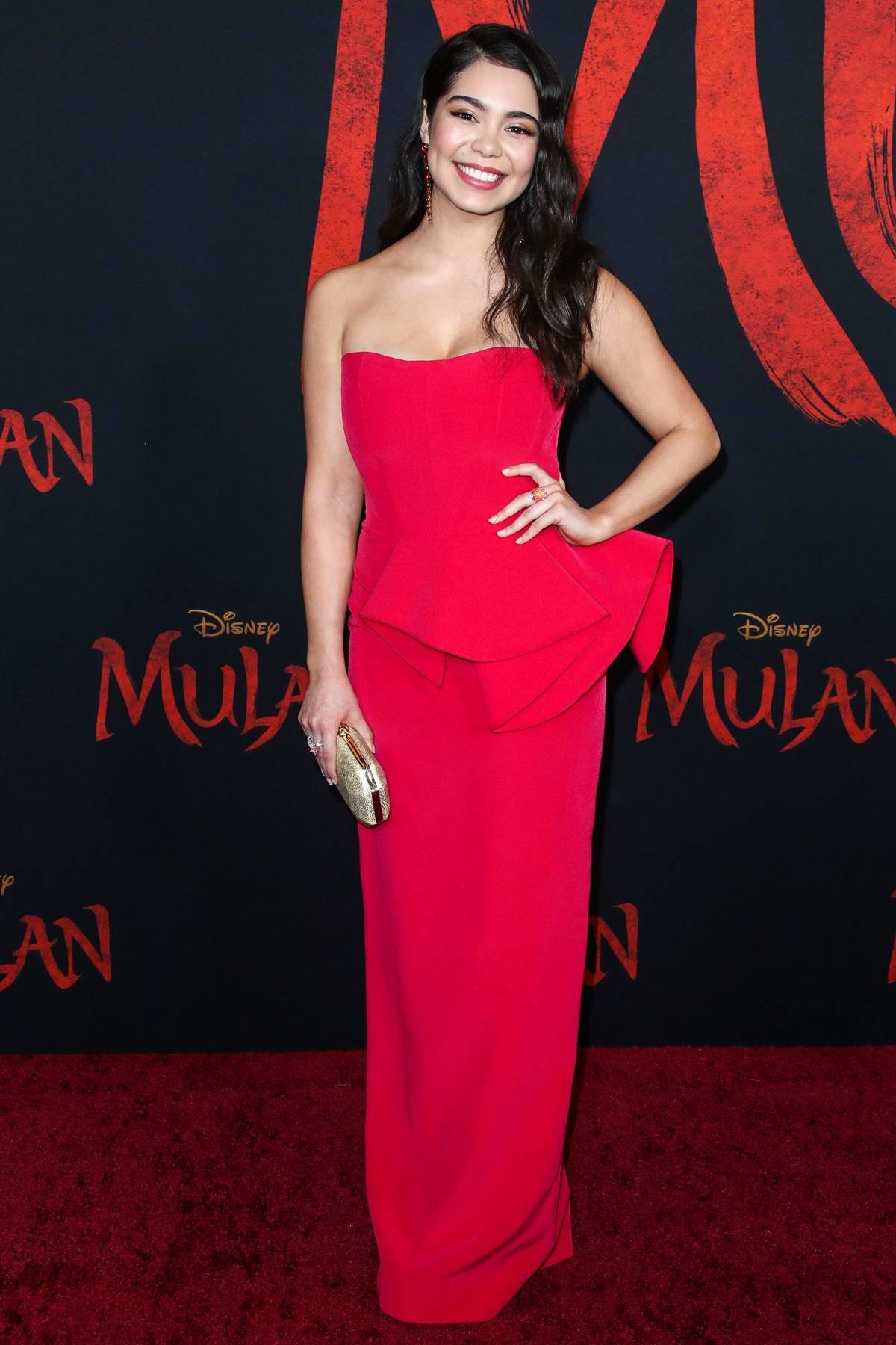 Auli'i Cravalho attends the Premiere of Disney's 'Mulan' at Dolby Theatre in Los Angeles