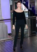 Behati Prinsloo celebrates World Wilfire Day at the Empire State Building in New York City