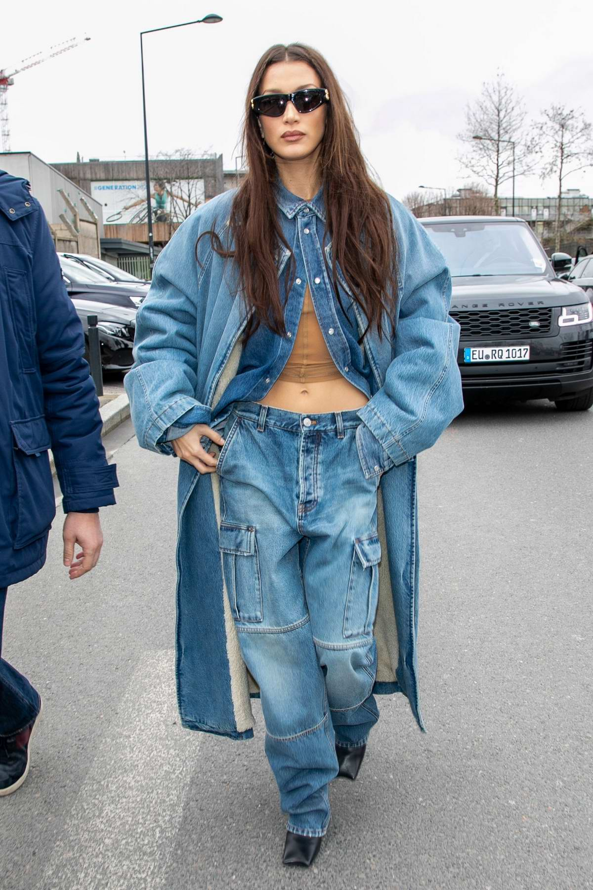 Bella Hadid attends the Balenciaga fashion show, F/W 2020 during Paris Fashion Week in Paris, France