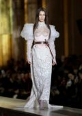 Bella Hadid walks the runway at Vivienne Westwood's show, F/W 2020 during Paris Fashion Week in Paris, France