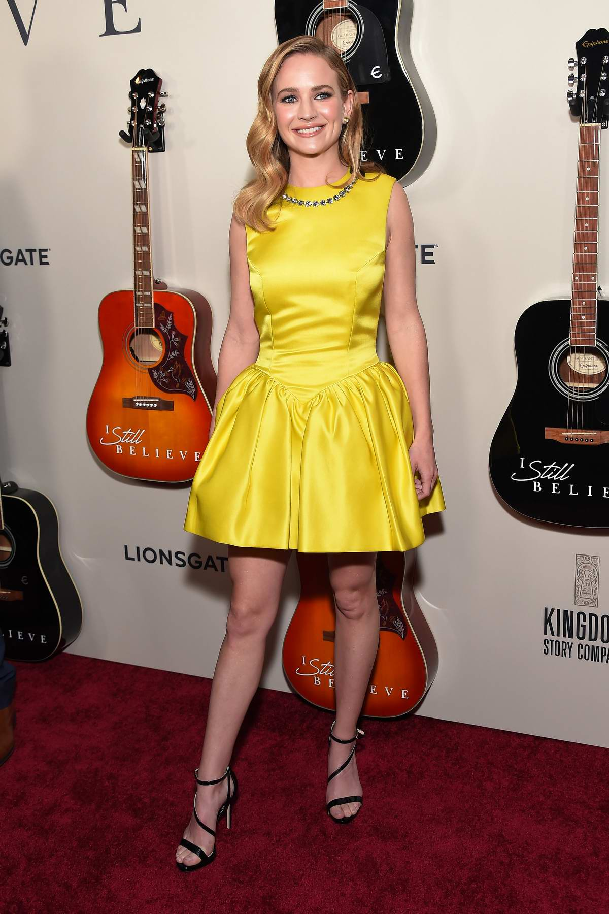 Britt Robertson attends the Premiere of Lionsgate's 'I Still Believe' in Hollywood, California
