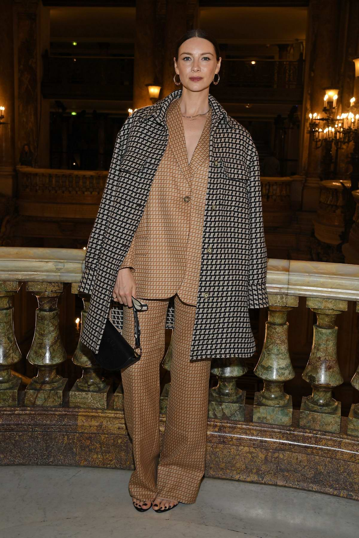 Caitriona Balfe attends the Stella McCartney show, F/W 2020 during Paris Fashion Week in Paris, France