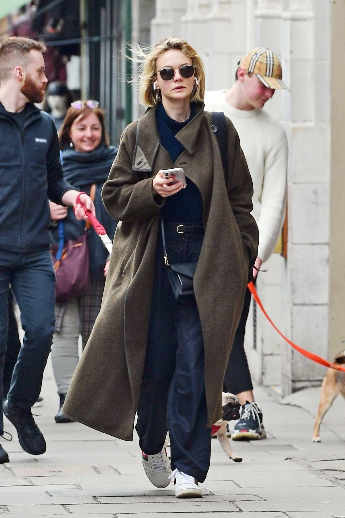 Carey Mulligan sports a high fashion look as she steps out in Notting Hill, London, UK