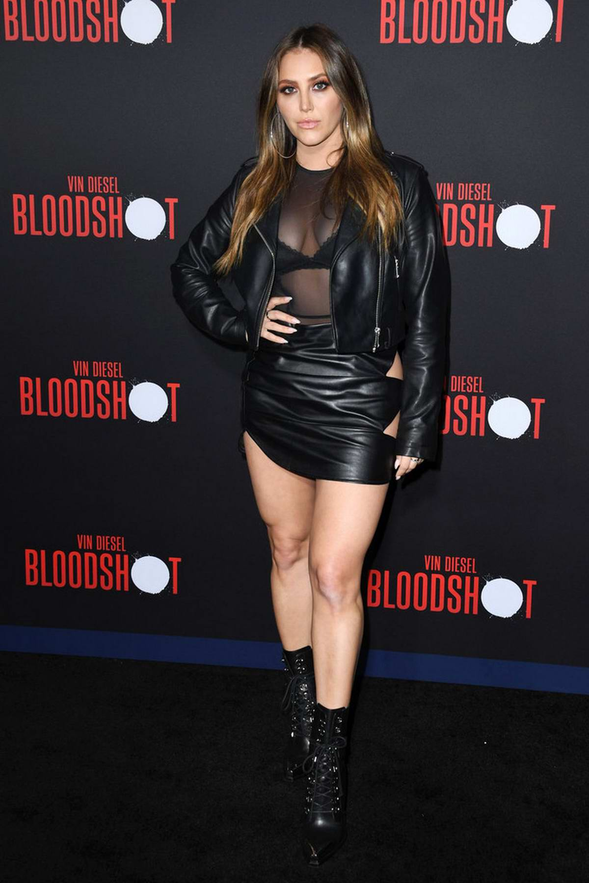 Cassie Scerbo attends the Premiere of 'Bloodshot' at the Regency Village Theatre in Westwood, California