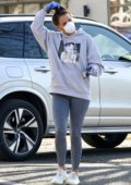 Danielle Lloyd seen wearing mask and gloves while buying a few essentials in Birmingham, UK