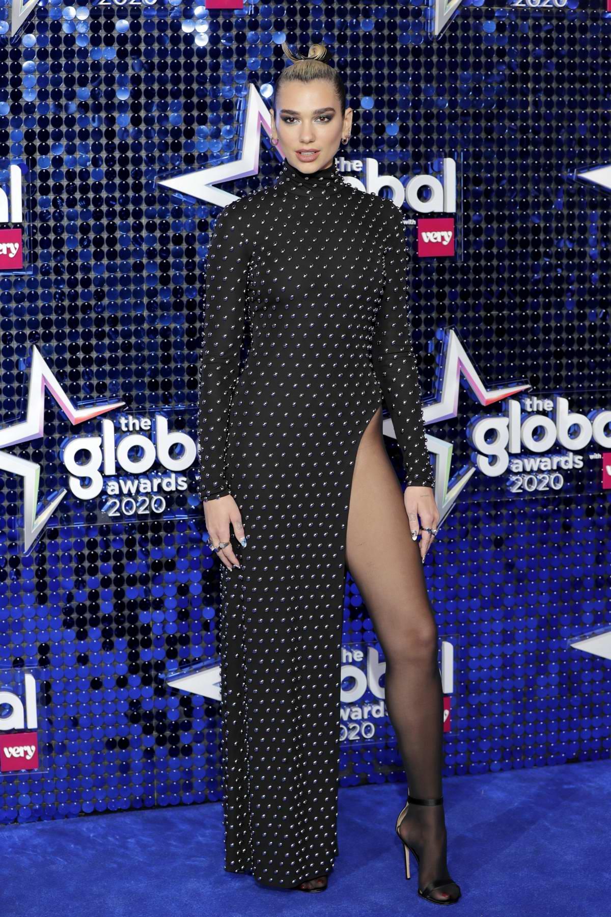 Dua Lipa attends The Global Awards 2020 at Eventim Apollo in London, UK