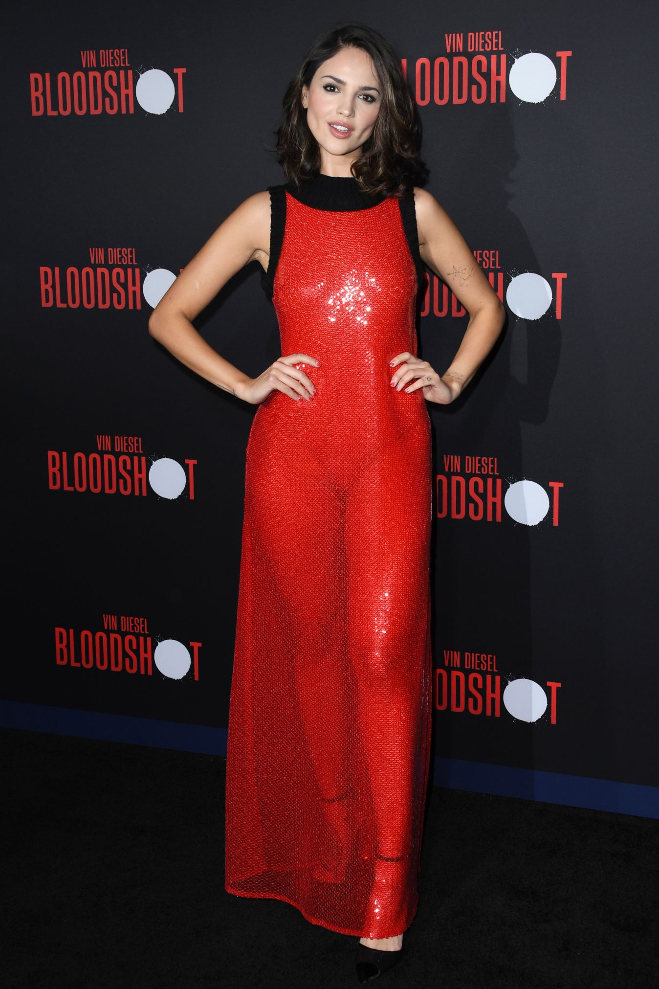 Eiza Gonzalez attends the Premiere of 'Bloodshot' at the Regency Village Theatre in Westwood, California