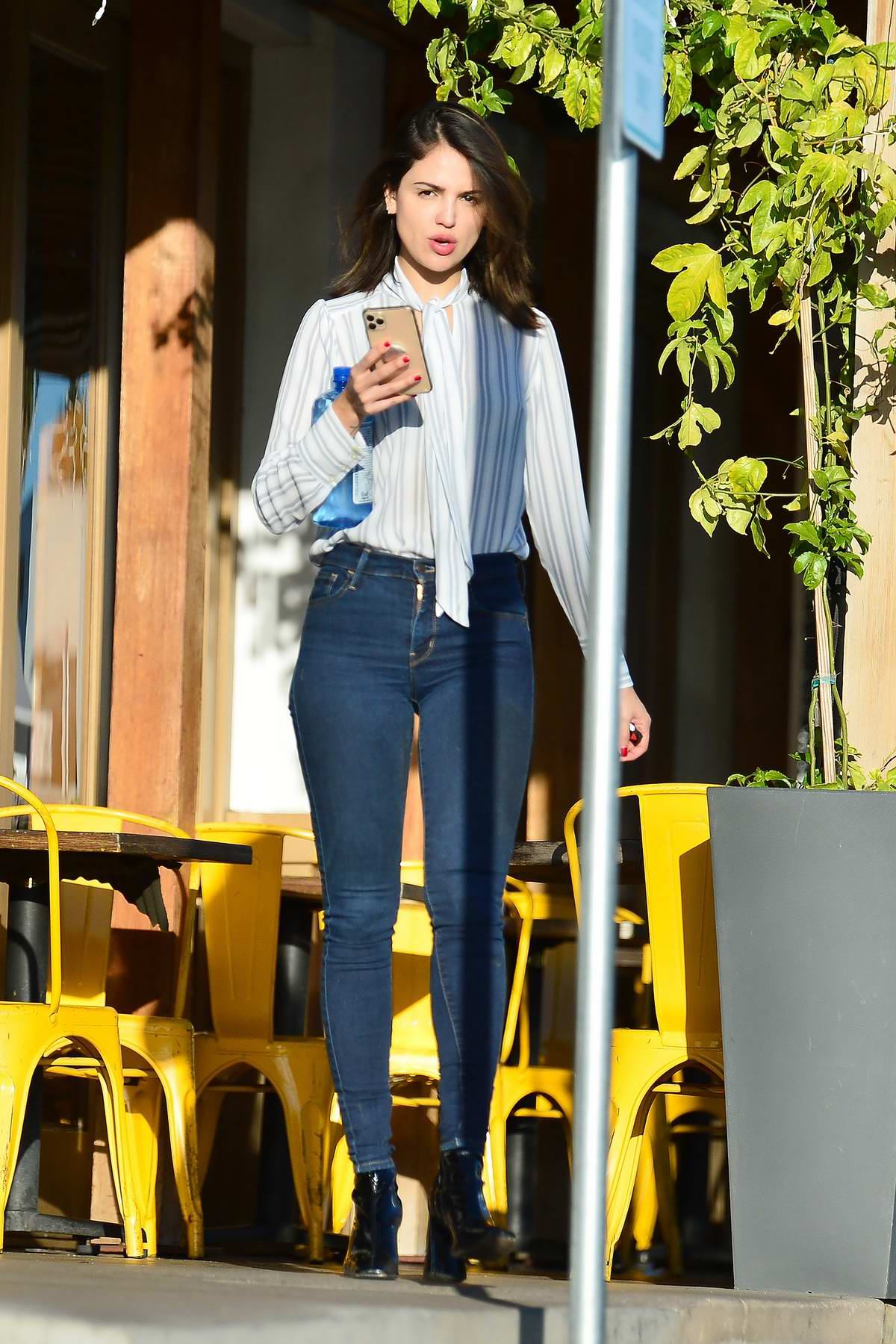 Eiza Gonzalez looks fashionable as she steps out to run a few errands in Los Angeles