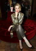 Elizabeth Debicki attends the Cinema Society screening of 'The Burnt Orange Heresy' in New York City