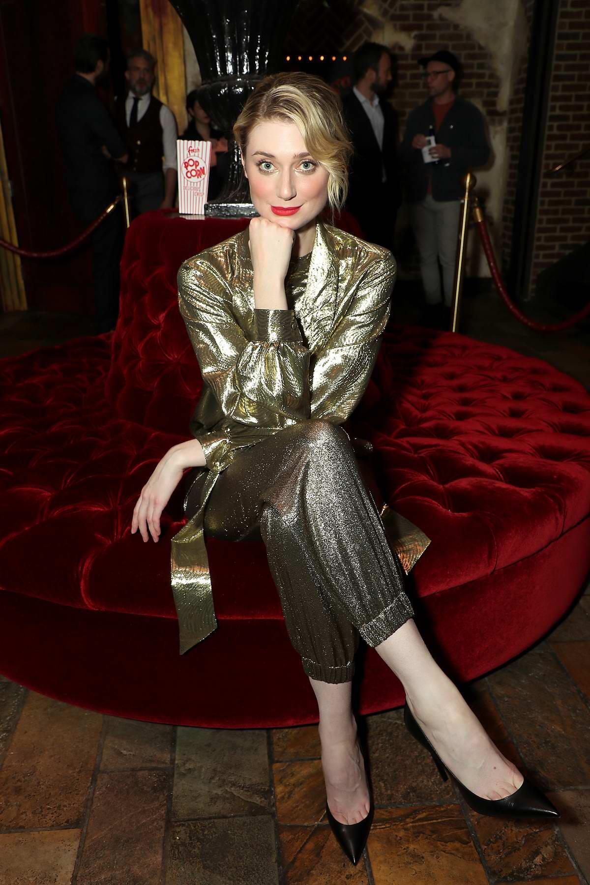 Elizabeth Debicki attends the Cinema Society screening of 'The Burnt Orange Heresy' in New York City