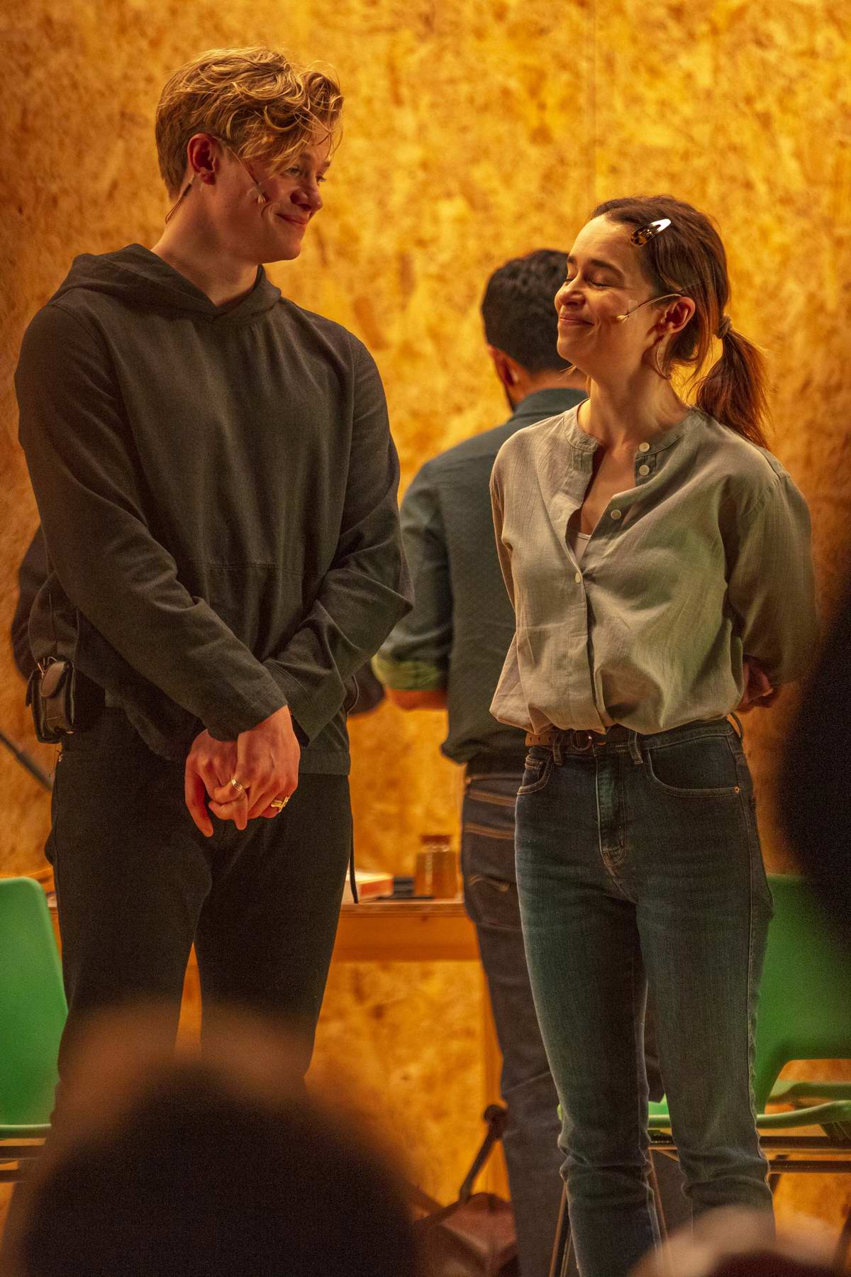 Emilia Clarke on stage of her new West End theatre play 'The Seagull' in London, UK