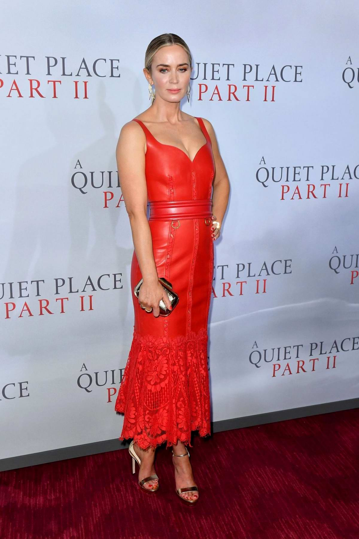 Emily Blunt attends the Premiere of 'A Quiet Place Part II' in New York City