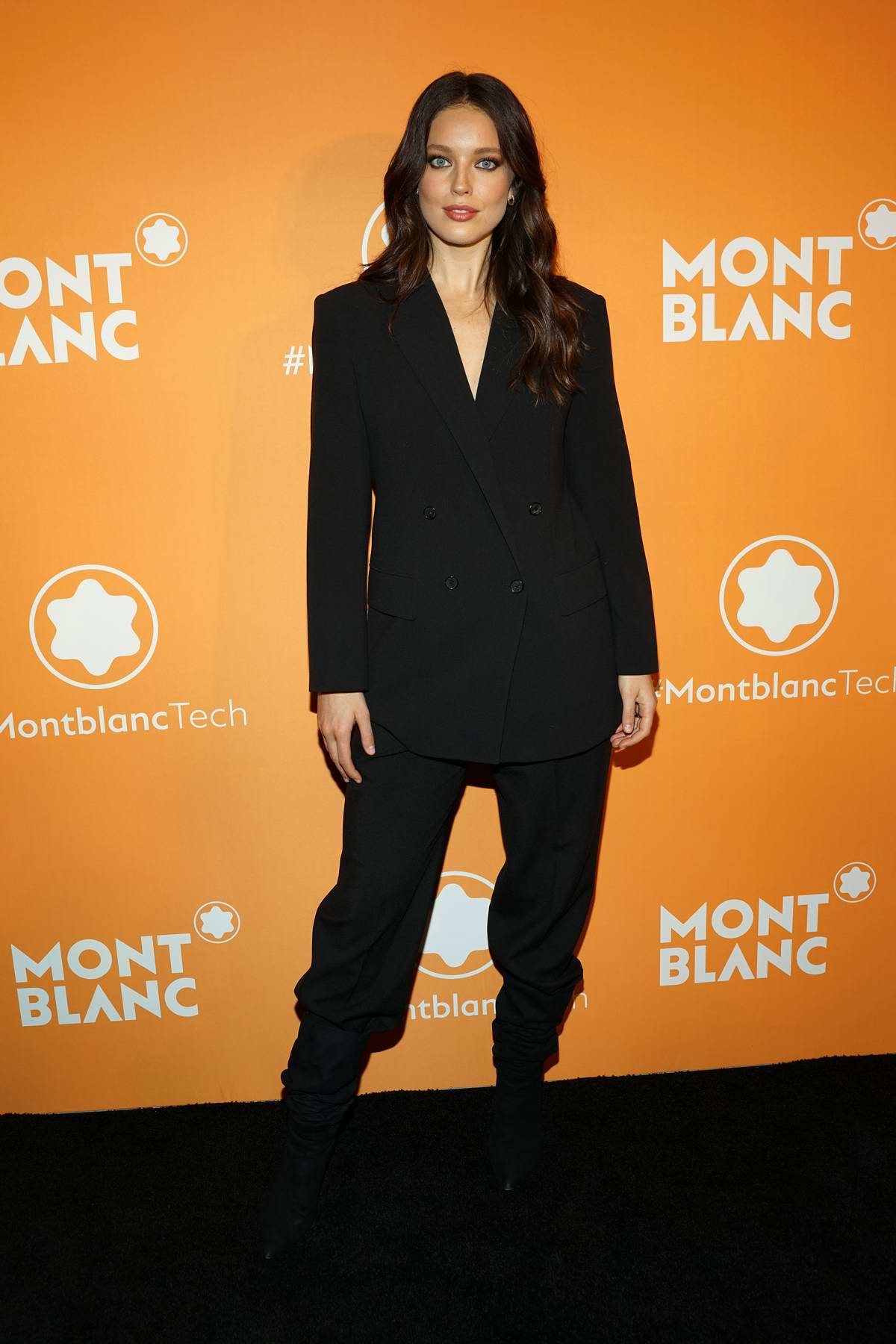Emily DiDonato attends the Montblanc MB 01 Smart Headphones and Summit 2+ launch party in New York City