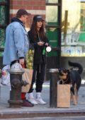 Emily Ratajkowski and Sebastian Bear-McClard step out for some shopping in Soho, New York City