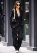 Emily Ratajkowski steps out in an oversized suit to run errands in New York City