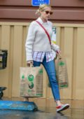 Emma Roberts and Garret Hedlund step out to run a few errands and shop groceries in Los Angeles