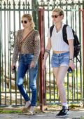 Emma Roberts and Kristen Stewart arrive at Kristen's new apartment in Los Feliz, California