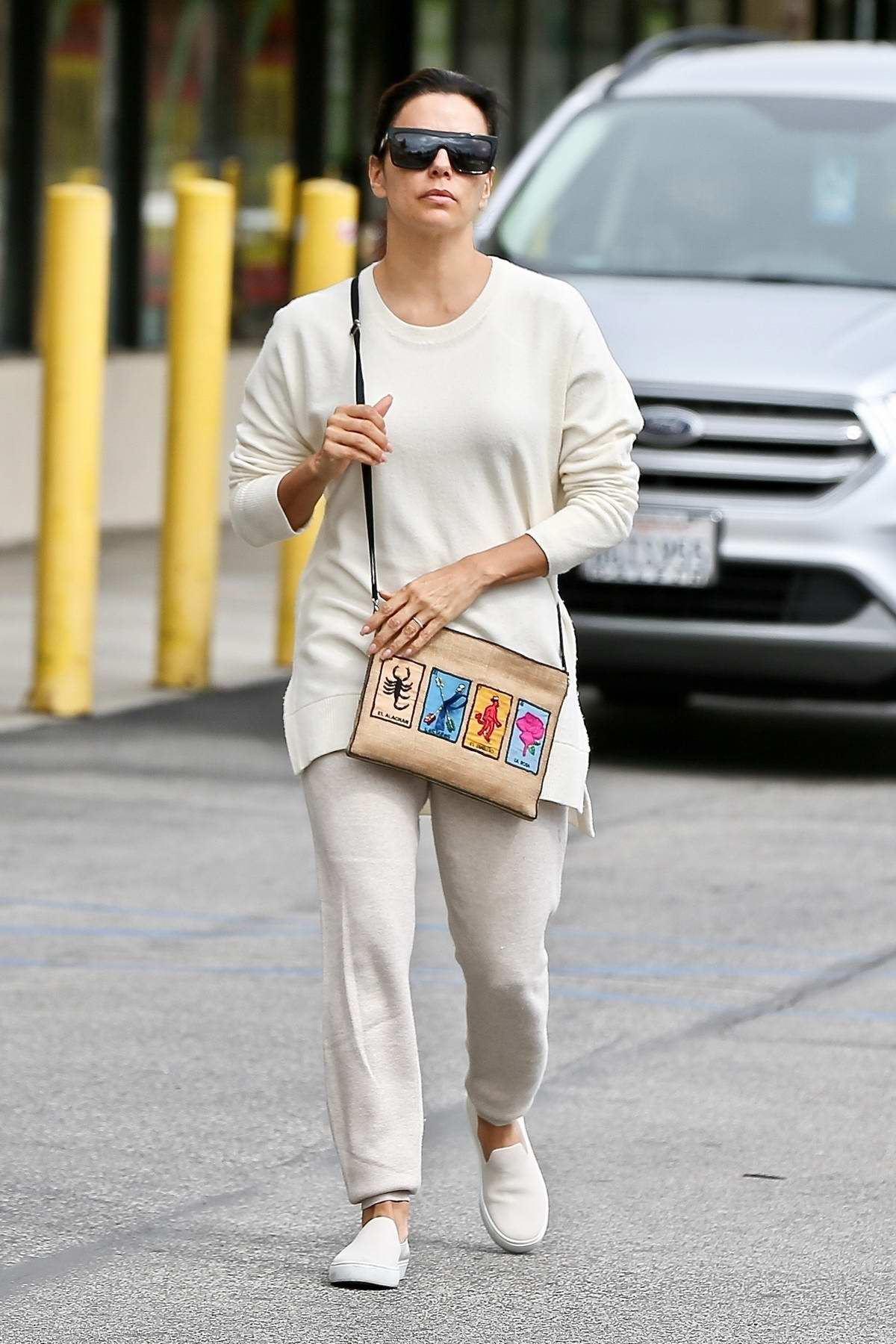 Eva Longoria gets in some craft shopping at Joann Fabrics and Crafts in Sherman Oaks, California