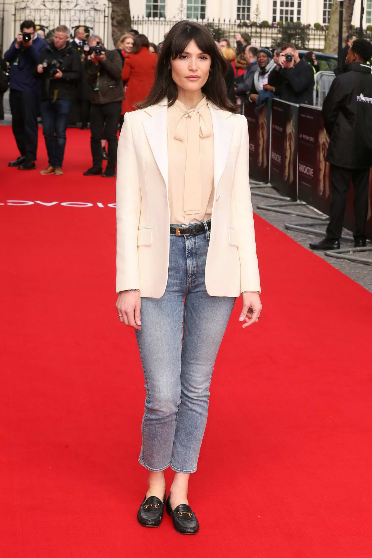 Gemma Arterton attends the Premiere of 'Radioactive' in London, UK