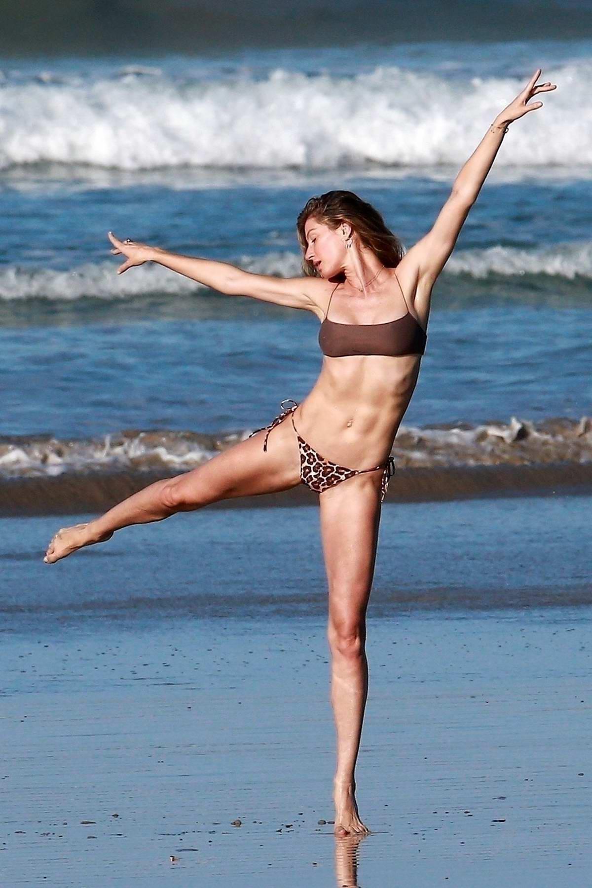 Gisele Bundchen looks incredible in a bikini during a beach photoshoot in Costa Rica