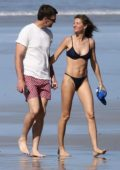 Gisele Bundchen stuns in a blue bikini during a beach day with Tom Brady in Costa Rica