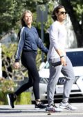 Gwyneth Paltrow steps out for an afternoon walk with husband Brad Falchuk in Santa Monica, California