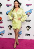 Hayley Orantia attends Christian Cowan x Powerpuff Girls Runway Show in Hollywood, California