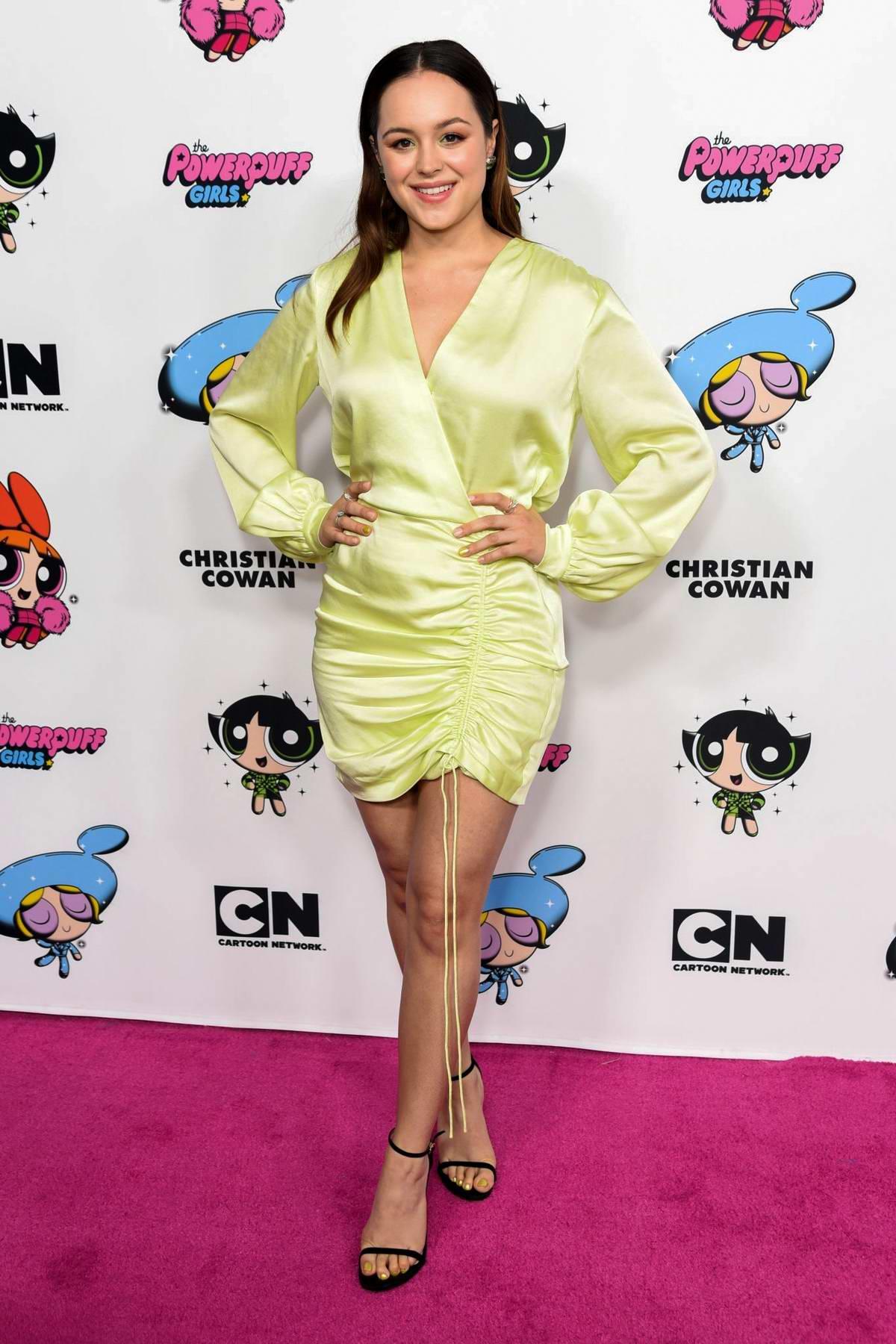 Hayley Orantia attends Christian Cowan x Powerpuff Girls Runway Show in Hollywood, California