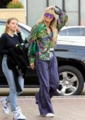 Heidi Klum arrives in a colorful outfit with her daughter at 'America's Got Talent' in Pasadena, California