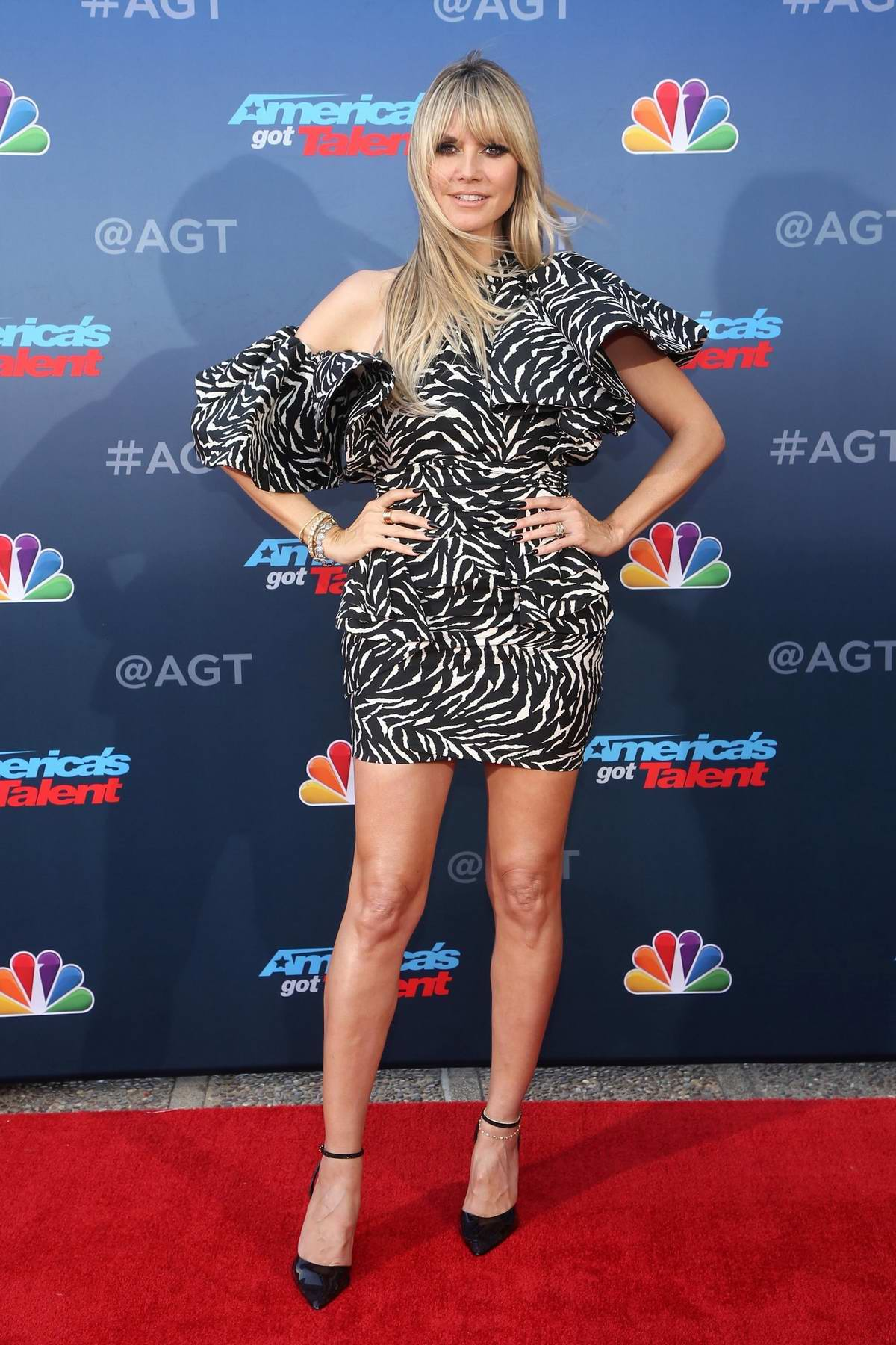 Heidi Klum attends the 'America's Got Talent' Season 15 Kickoff at Pasadena Civic Auditorium in Pasadena, California