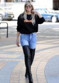 Heidi Klum rocks stylish thigh-high boots as she arrives at 'America's Got Talent' in Pasadena, California