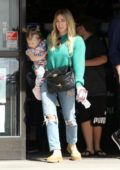 Hilary Duff steps out with her kids to run a few errands in Studio City, California