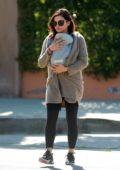 Jenna Dewan takes her newborn son out for an afternoon walk in Los Angeles
