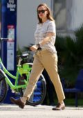 Jennifer Garner keeps things casual in khakis while out running errands in Brentwood, California
