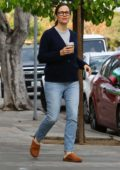 Jennifer Garner steps out for some coffee with a friend in Brentwood, California