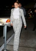 Jennifer Lopez and Alex Rodriguez seen leaving the San Vicente Bungalows after dinner in West Hollywood, California