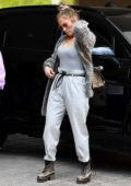 Jennifer Lopez keeps it casual for a lunch outing with her daughter in Miami, Florida