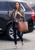 Jessica Alba looks great in a blazer as she heads for a meeting in Beverly Hills, California