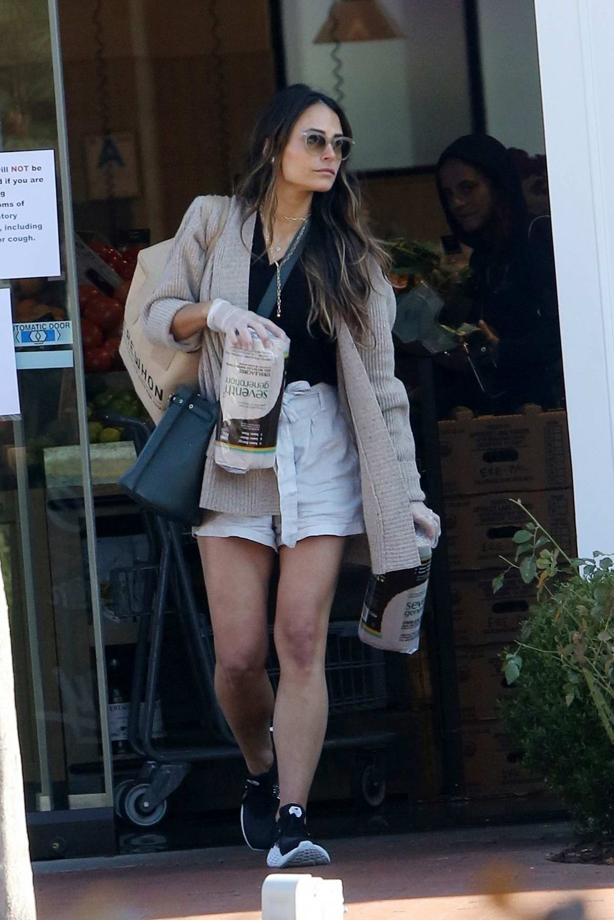 Jordana Brewster spotted while shopping some supplies at Erewhon Market in Pacific Palisades, California