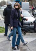 Kaia Gerber seen leaving the Chanel show, F/W 2020 during Paris Fashion Week in Paris, France