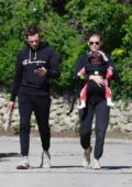 Kate Mara and Jamie Bell take their baby out for a stroll in Los Angeles