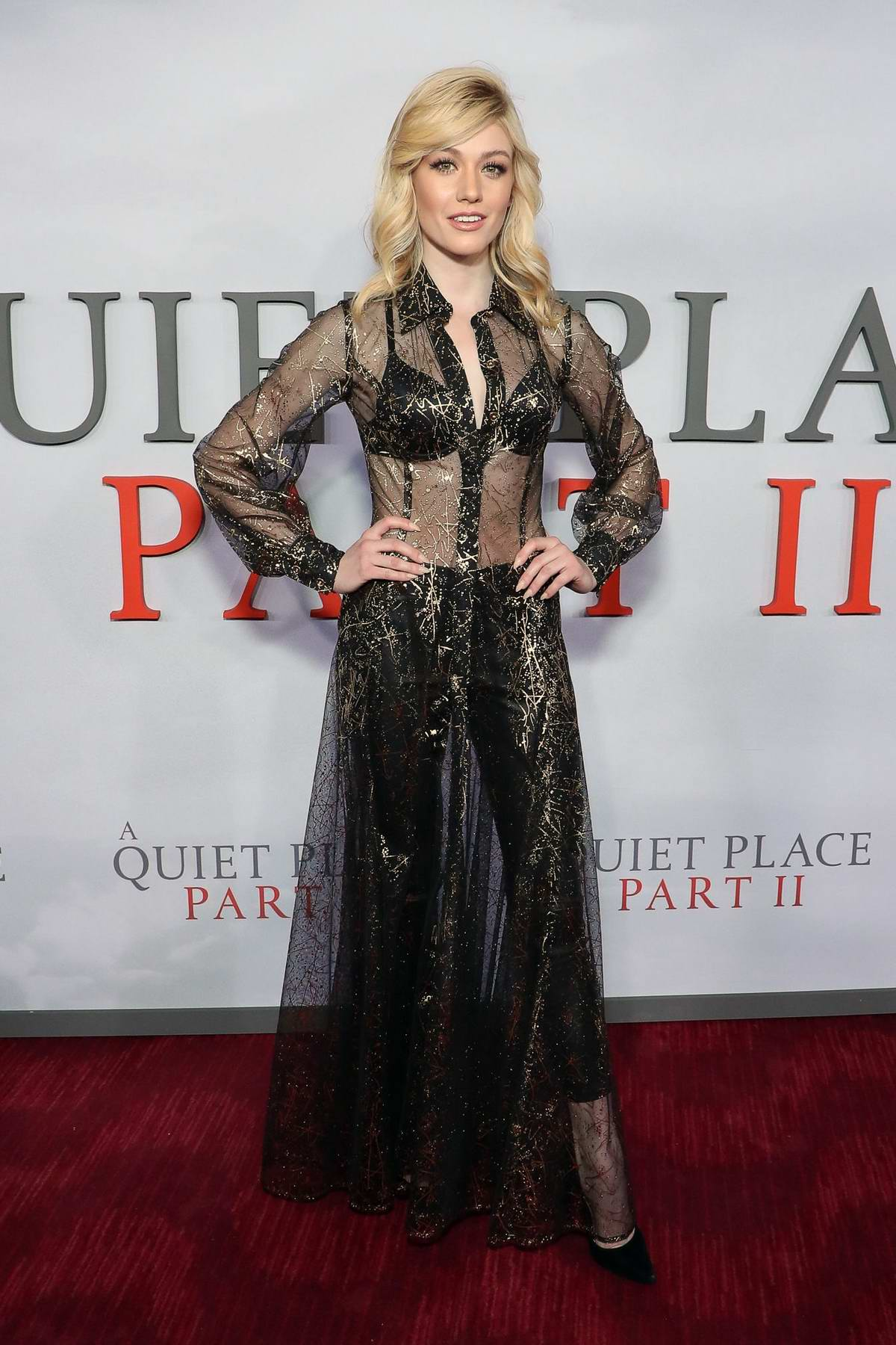 Katherine McNamara attends the Premiere of 'A Quiet Place Part II' in New York City