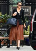 Katie Holmes grabs a bite at The Smile in New York City