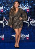 Kelly Brook attends The Global Awards 2020 at Eventim Apollo in London, UK