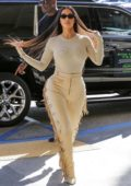 Kim Kardashian steps out for shopping with Scott Disick and the KUWTK crew at Nordstrom in Woodland Hills, California